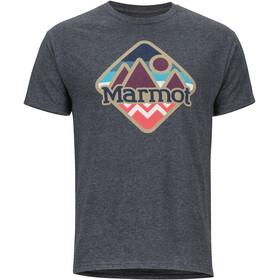 Marmot Sweeney Ridge SS Tee Herrer, charcoal heather